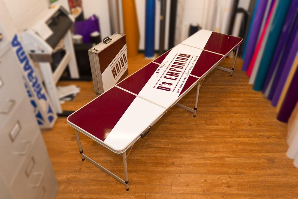 Our Portfolio AP Signs Portadown - Custom vinyl decals for beer pong tables