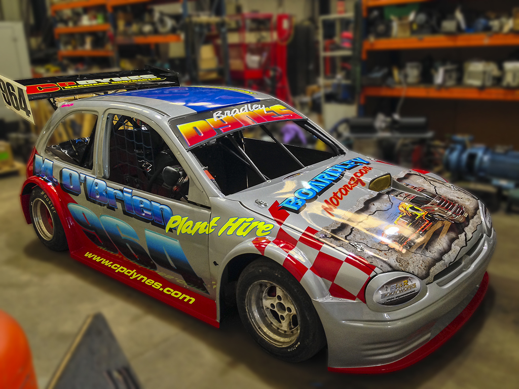 Stock car graphics by AP Signs Portadown